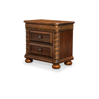 Bautini 2 Drawer Nightstand