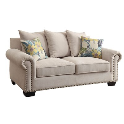 KUI7564 27203839 KUI7564 Hokku Designs Aldon Nailhead Trim Loveseat