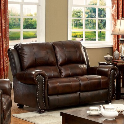 KUI7573 27203848 KUI7573 Hokku Designs Rigo Transitional Leather Loveseat
