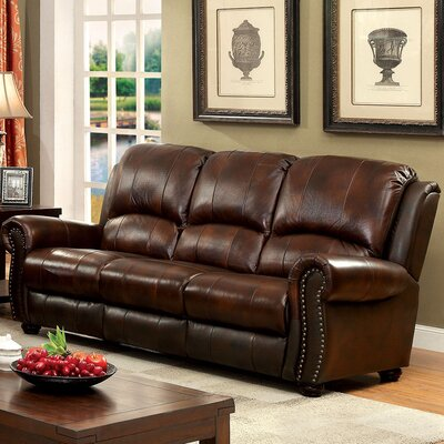 KUI7572 27203847 KUI7572 Hokku Designs Rigo Transitional Leather Sofa