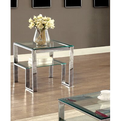 Scheider Stacked Shelf End Table