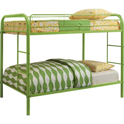 Prism Twin Bunk Bed Color: Green