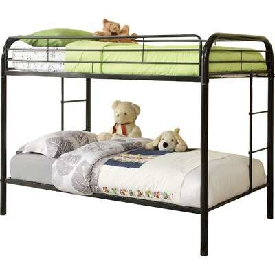 Prism Twin over Twin Bunk Bed Color: Black / White