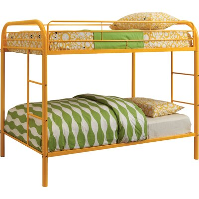 Prism Twin over Twin Bunk Bed Color: Orange