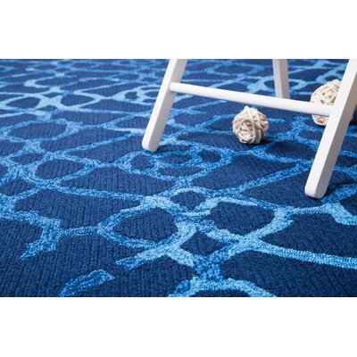 Heritage Hand-Tufted Blue Indoor/Outdoor Area Rug Rug Size: 5 x 8