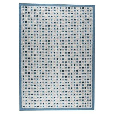 Khema1 Hand-Woven Turquoise Area Rug Rug Size: 83 x 116