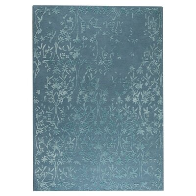 Santoor Hand-Tufted Turquoise Area Rug Rug Size: 83 x 116