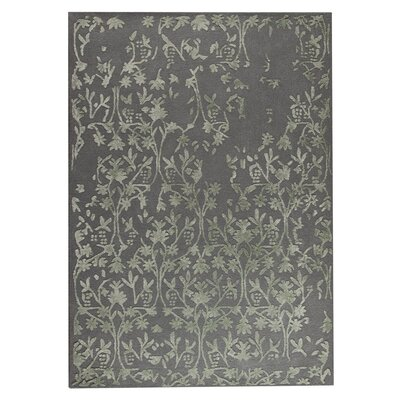 Santoor Hand-Tufted Gray Area Rug Rug Size: 83 x 116