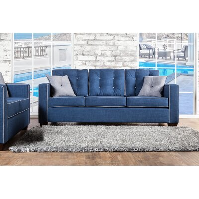 Urban Valor Tufted Sofa Upholstery: Blue