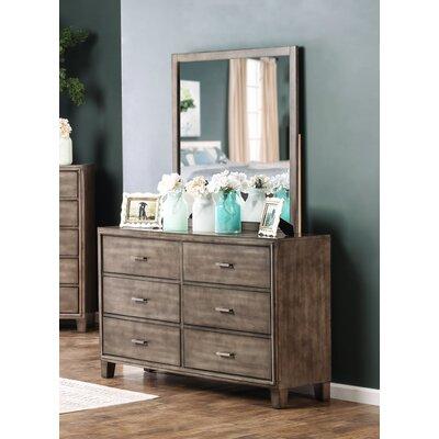 Leporis 6 Drawer Dresser with Mirror