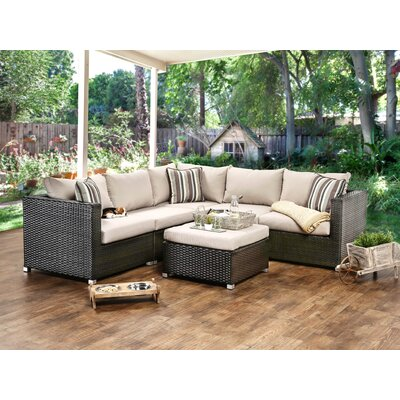 Grasse 6 Piece Seating Group with Cushions Fabric: Ivory