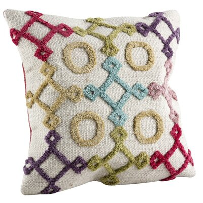 Nicia Throw Pillow Size: 24 H x 24 W
