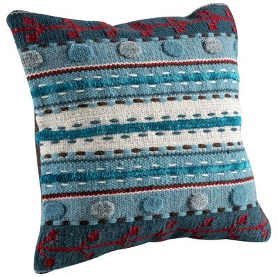 Abramo Throw Pillow Color: Turquoise, Size: 16 H x 16 W
