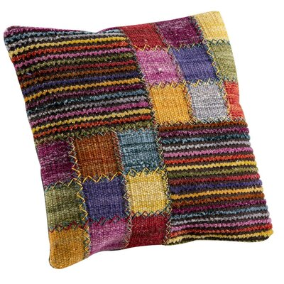 Khema 4 Throw Pillow Color: Brown, Size: 24 H x 24 W