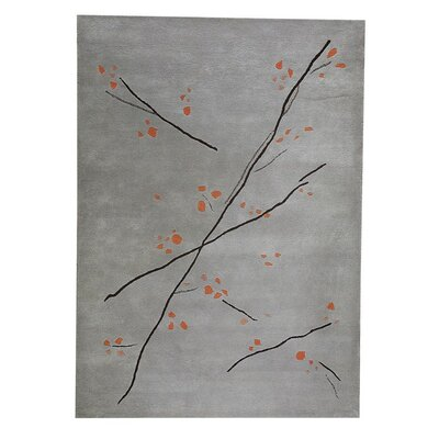Inari Hand-Tufted Gray/Orange Area Rug