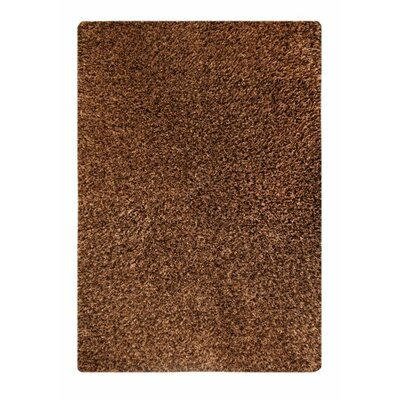Twilight Hand-Knotted Brown Area Rug Rug Size: 52 x 76