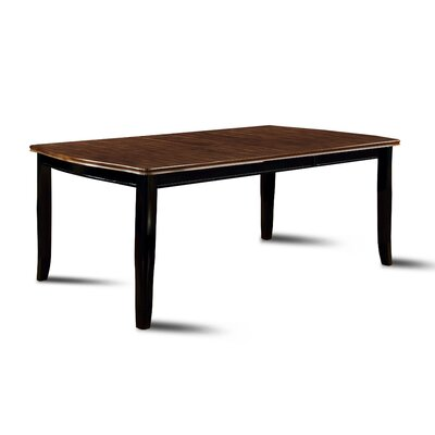 Carolina Dining Table Finish: Black / Cherry