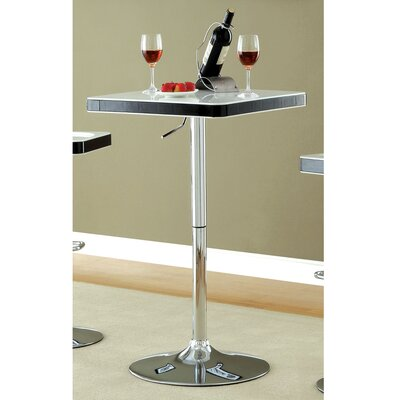Swivel Counter Height Dining Table Color: White