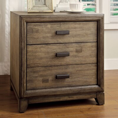 Karla 3 Drawer Nightstand