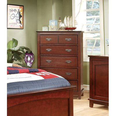 Kenneth 5 Drawer Chest Color: Cherry