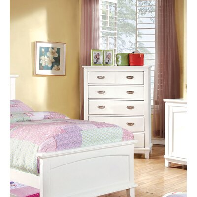 Kenneth 5 Drawer Chest Color: White