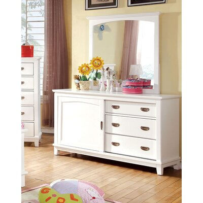 Kenneth 3 Drawer Combo Dresser Color: White
