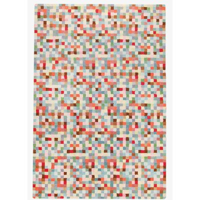 Optima Hand-Tufted Coral Area Rug Rug Size: 83 x 116