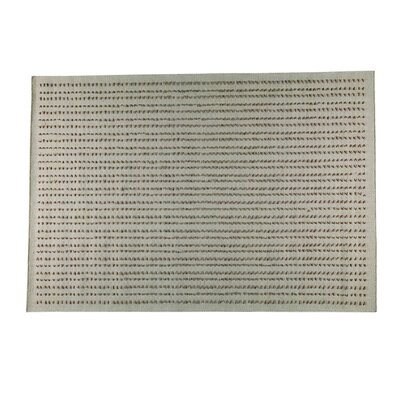 Neville Hand-Woven Beige Area Rug Rug Size: 66 x 99