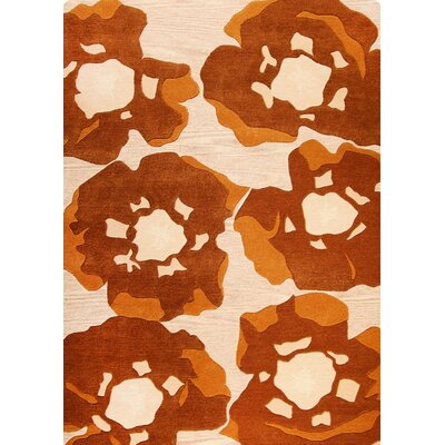 Poppy Hand-Tufted Brown Area Rug Rug Size: 83 x 116