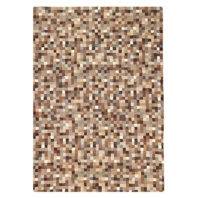 Optima Hand-Tufted Natural Area Rug Rug Size: 83 x 116