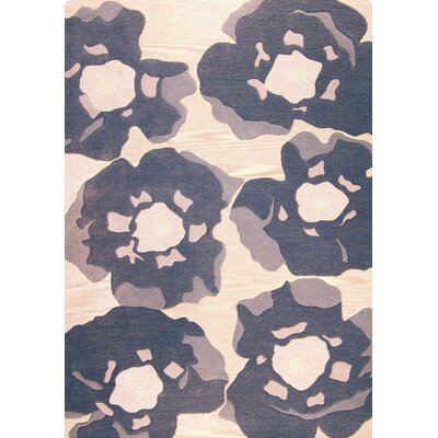 Poppy Hand-Tufted Gray Area Rug Rug Size: 83 x 116