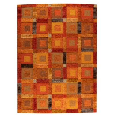 Big Box Hand-Woven Orange Area Rug Rug Size: 56 x 710