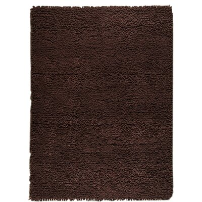 Cyndy Hand-Woven Brown Area Rug Rug Size: 9 x 12