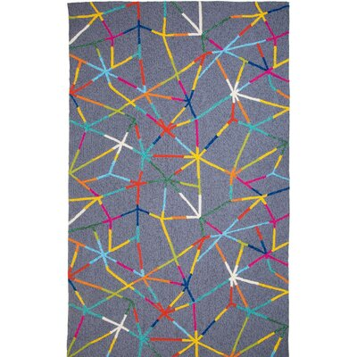 Bermuda Hand-Tufted Gray Indoor/Outdoor Area Rug Rug Size: 5 x 8