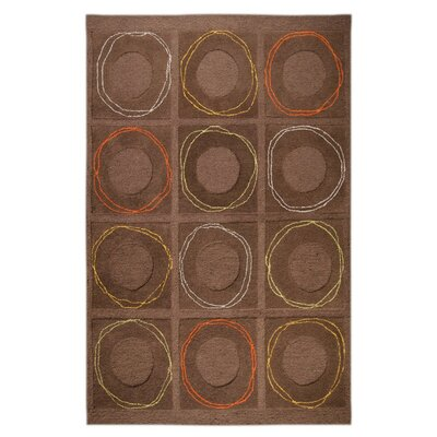 Circa Hand-Tufted Charcoal Area Rug Rug Size: 5 x 7