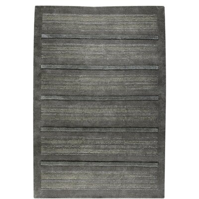 Boston Hand-Knotted Dark Gray Area Rug Rug Size: 46 x 66