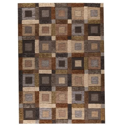 Big Box Hand-Woven Gray Area Rug Rug Size: 83 x 116
