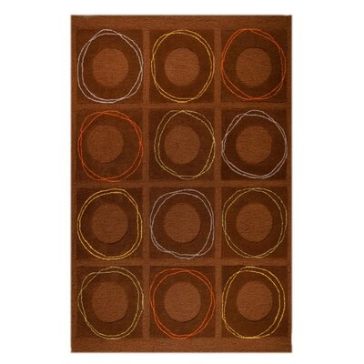 Circa Hand-Tufted Brown Area Rug Rug Size: 76 x 96