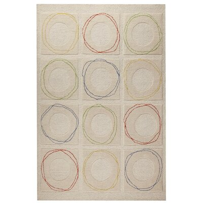 Circa Hand-Tufted White Area Rug Rug Size: 5 x 7