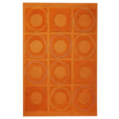 Circa Hand-Tufted Rust Area Rug Rug Size: 5 x 7