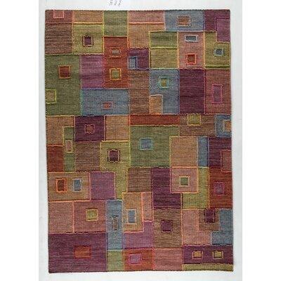 Khema8 Hand-Woven Area Rug Rug Size: 83 x 116