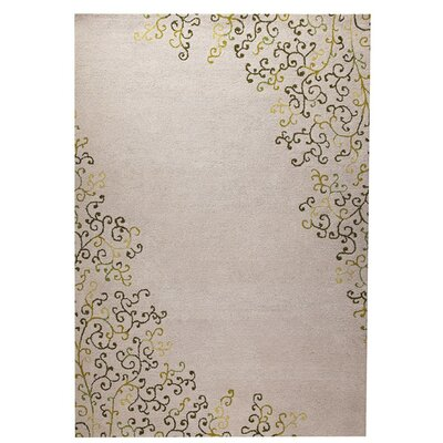 Sina Hand-Tufted Green Area Rug Rug Size: 52 x 76