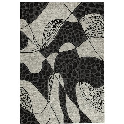 Riddle Hand-Tufted White Area Rug Rug Size: 52 x 76