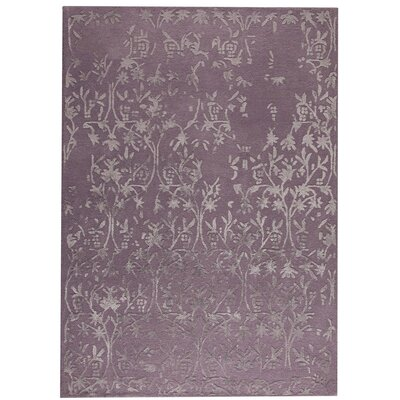 Santoor Hand-Tufted Purple Area Rug Rug Size: 83 x 116
