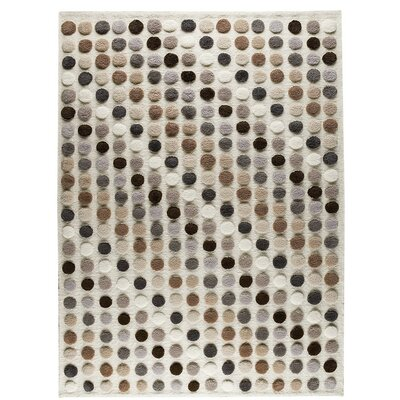 Smarties Hand-Knotted Natural Area Rug Rug Size: 46 x 66