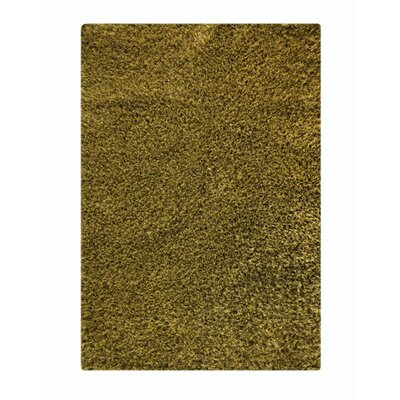 Twilight Hand-Knotted Green Area Rug Rug Size: 52 x 76