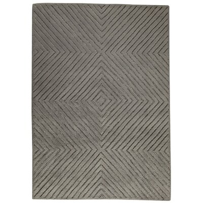 Union Hand-Tufted Gray Area Rug Rug Size: 5 x 7