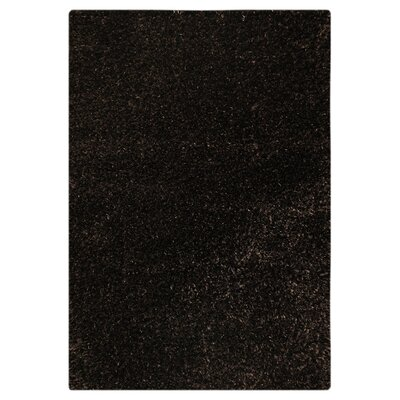 Twilight Hand-Knotted Charcoal Area Rug Rug Size: 5'2