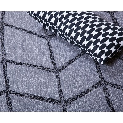 Shadow Hand-Tufted Gray Indoor/Outdoor Area Rug Rug Size: 9 x 12