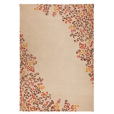 Sina Hand-Tufted Red Area Rug Rug Size: 52 x 76